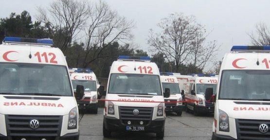 8 Ambulans Geliyor