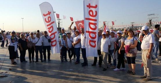 Gerzeli CHP'liler Adalet Yürüyüşünde.