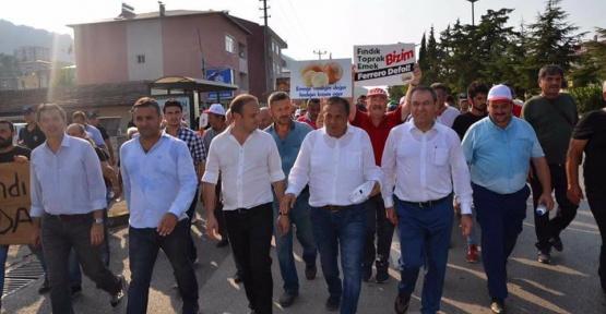 """Sinoplu Vekil 'Fındık için Adalet"""" Yürüyüşünde"""