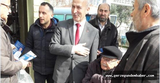 SP'si Adayı M. Ali Yavuz, Pazar Esnafını Gezdi