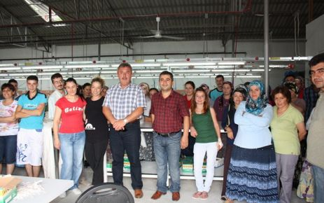 Başkandan Yeni Saray Tekstili Ziyaret.