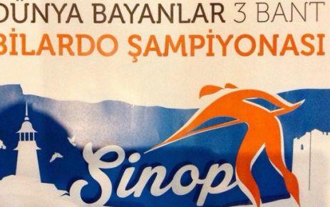 Dünya Bayanlar Bilardo Şampiyonası Sinop'ta.