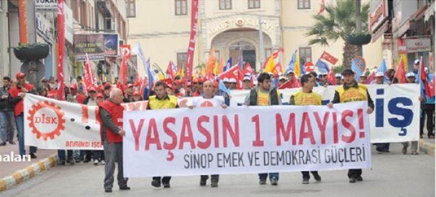 Sinop'ta Olaysız 1 Mayıs