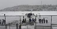Boyabat Maçına Kar Molası