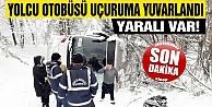 Sinop#039;ta yolcu otobüsü uçuruma yuvarlandı