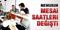 Sinop'ta Mesai Saatleri Değişti