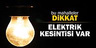 Elektrik Kesintisi Olacak