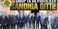 Sinop#039;ta AK Partililer Sandığa Gitti