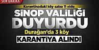 Sinop#039;ta karantinaya alınan köy sayısı 11 oldu