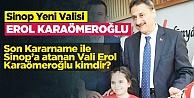Sinop Valisi Değişti