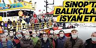 Karadenizli balıkçılar Sinop#039;ta isyan etti