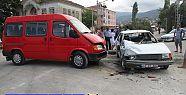 Yoğun Trafik Kaza Getirdi