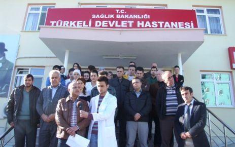 Türkeli İlçe Hastanesi Önünde Basın Açıklaması