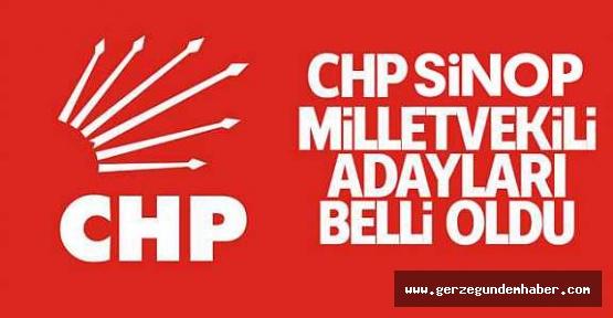 CHP Sinop Adayları Belli Oldu