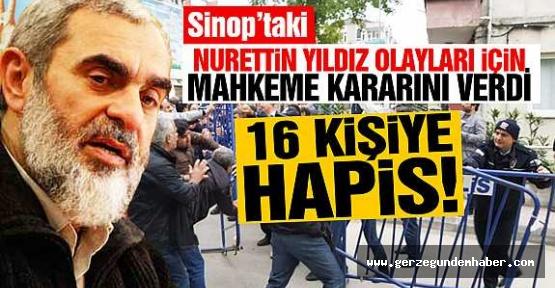 16 Kişiye Hapis