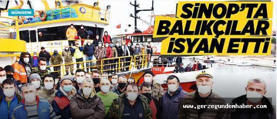 Karadenizli balıkçılar Sinop'ta isyan etti