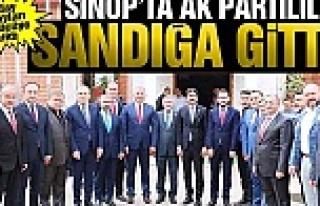 Sinop'ta AK Partililer Sandığa Gitti