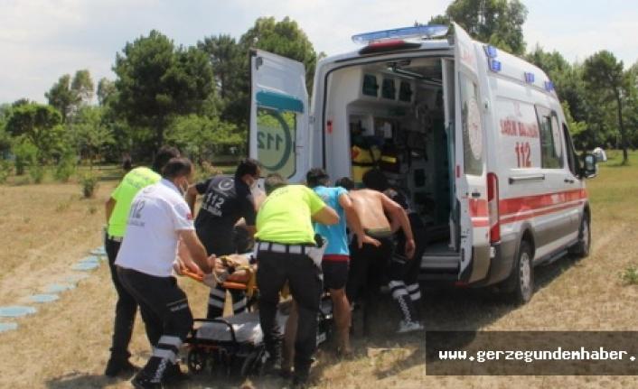 Sinop'ta baba ve iki çocuğu boğulma tehlikesi geçirdi
